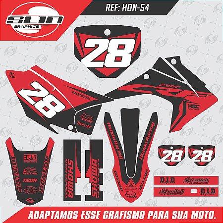 Adesivo Honda Crf 230 15/19 - Flow Racing Red Black
