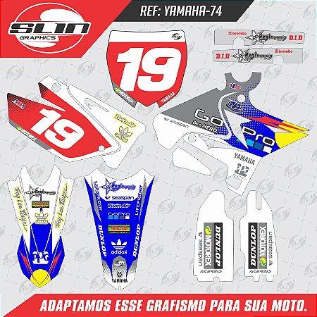 Adesivo Yamaha Racing Go Pro Design