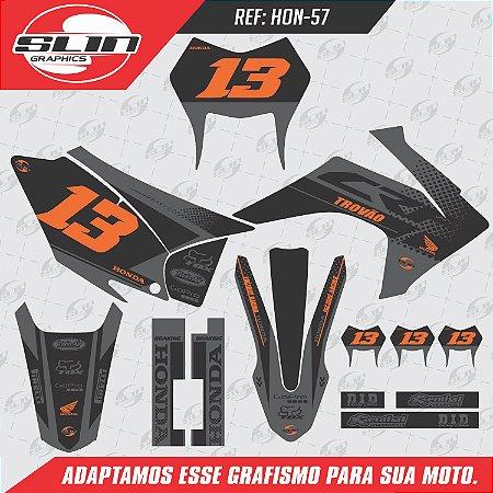 Adesivo Honda Crf 230 15/19 - Flow Dark Racing