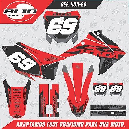 Adesivo Honda Racing  Black Design
