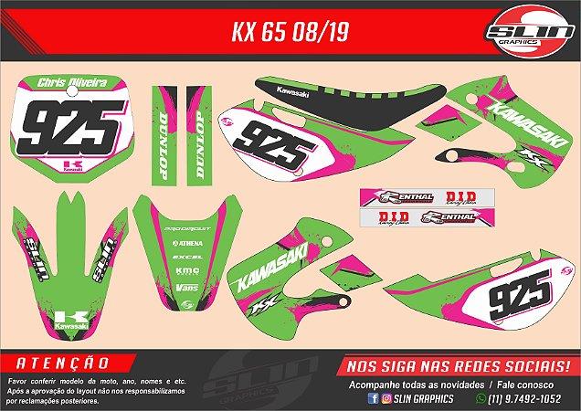 Adesivo Kawasaki Pink Racing