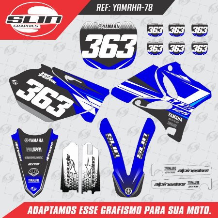 Adesivo Yamaha YZ 125/250 - Racing Standard Design