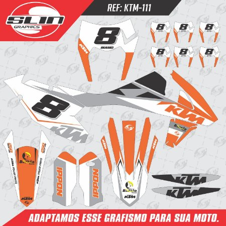 Adesivo Ktm 250/350/450 EXC Orange Racing