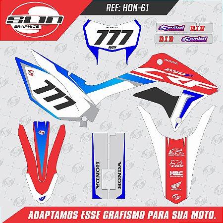 Adesivo Honda Crf 250f 19/20 Nacional - Racing Eletric Bike