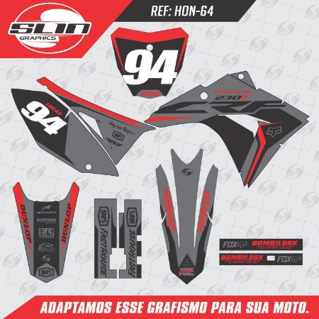 Adesivo Honda Crf 230 15/19 - Flow Dark Edição Especial