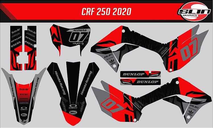 Adesivo Honda Crf 250f 19/20 Nacional - Black Strike Racing
