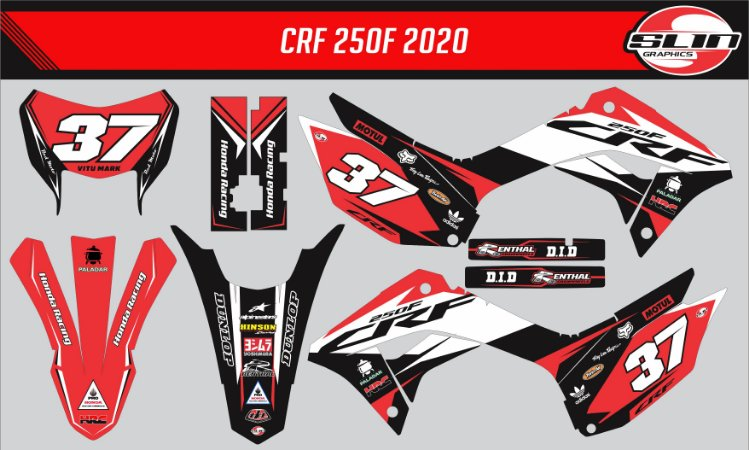 Adesivo Honda Crf 250f 19/20 Nacional -  Réplica Enduro Alex Salvini Red Moto