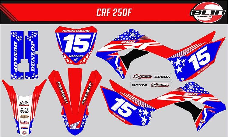 Adesivo Honda Crf 250f 19/20 Nacional - Estrela Nações