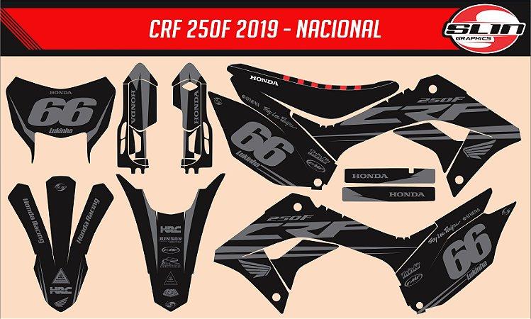 Adesivo Honda Crf 250f 19/20 Nacional - Black Pro Design #2