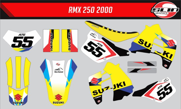 Adesivo Suzuki Rmx 250 Flow Star Racing + Capa de banco