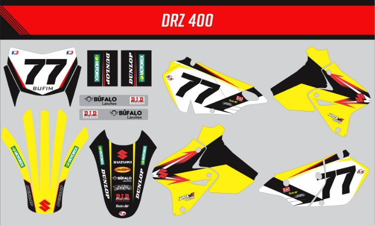Adesivo Suzuki DRZ 400 Line Black Edition