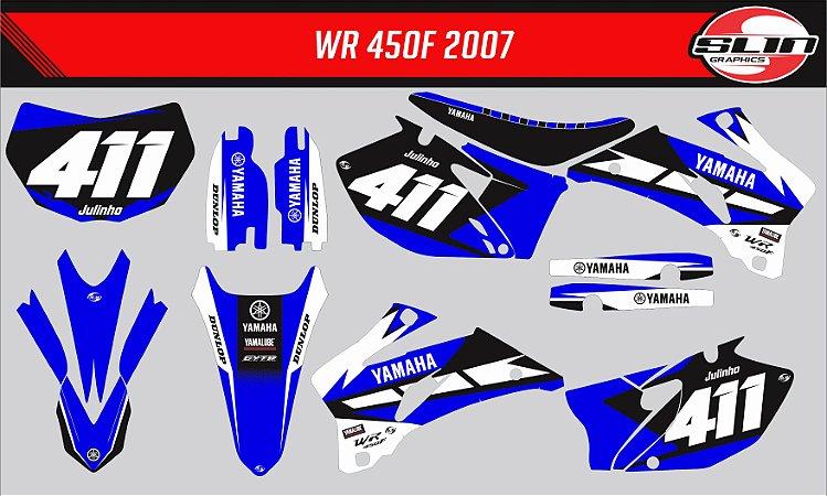 Adesivo Yamaha WRF 250/450 - Yamaha Stock Racing + Capa de Banco