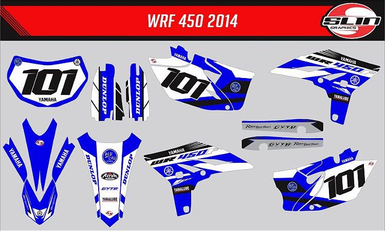 Adesivo Yamaha WRF 250/450 - Blue Cru Racing