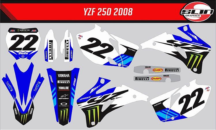 Adesivo Yamaha YZF 250/450 - White Monster Energy