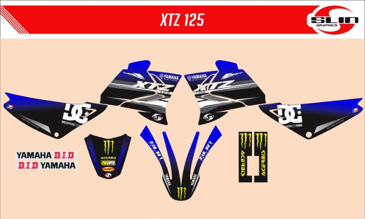 Adesivo Yamaha XTZ 125/250 - Monster Energy Racing