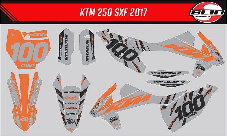 Adesivo Ktm 250/350/450 SX - Orange Trigger Racing Team