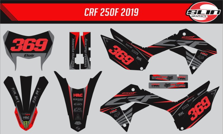 Adesivo Honda Crf 250f 21 Nacional - Black Line Racing