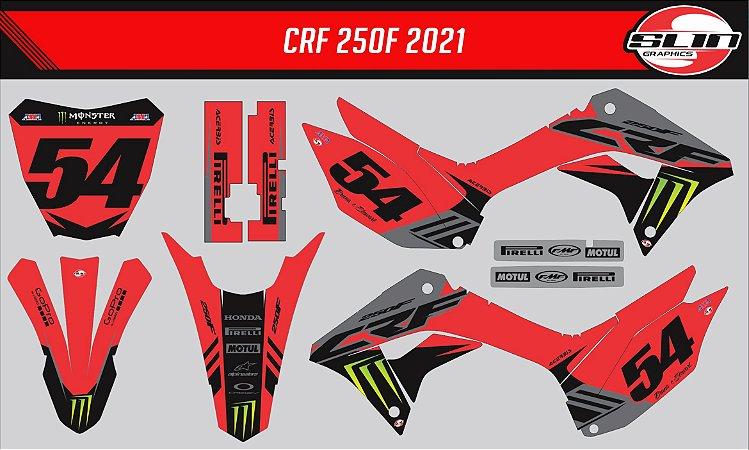Adesivo Honda Crf 250f 21 Nacional - Monster Racing Style