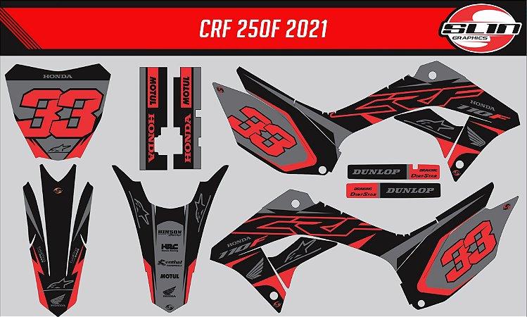 Adesivo Honda Crf 250f 21 Nacional - Alpnestar Racing Edition
