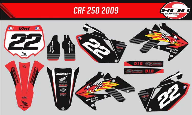 Adesivo Honda Crf 250r - Pica Pau Racing Edition