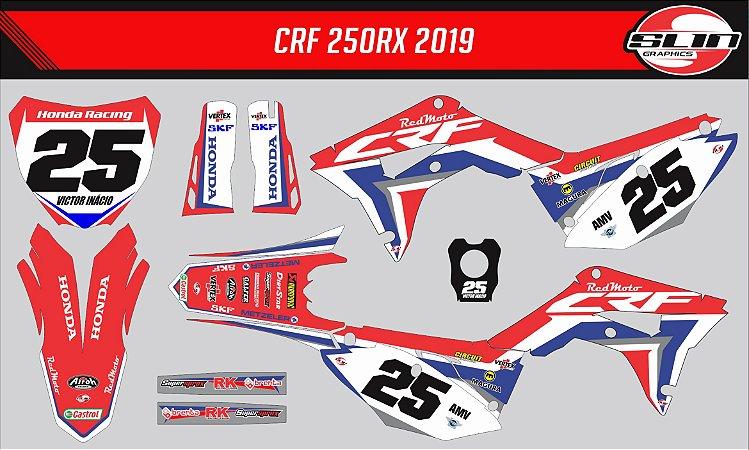 Adesivo Honda Crf 250r - Red Moto Racing Team