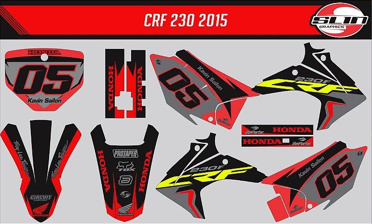 Adesivo Honda Crf 230 15/19 - Black Stand Style