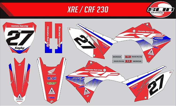 Adesivo Honda Crf 230 20 - Honda Brasil 2020