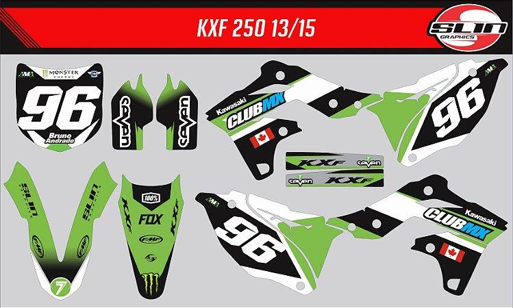 Adesivo Kawasaki Kxf 250 - Club Mx Racing Team