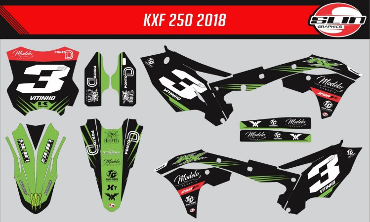 Adesivo Kawasaki Kxf 250 - Black Line Race