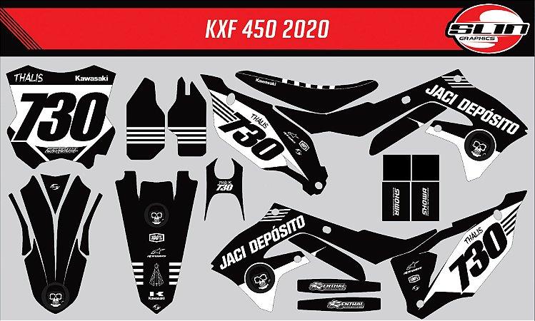 Adesivo Kawasaki Kxf 450 - Whole Black Style