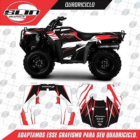 Adesivo Quadriciclo - Honda Four Trax 08 12 Line Racing