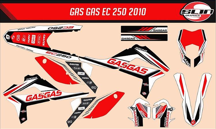 Adesivo Gas Gas 250ec 2010  - Line Standard