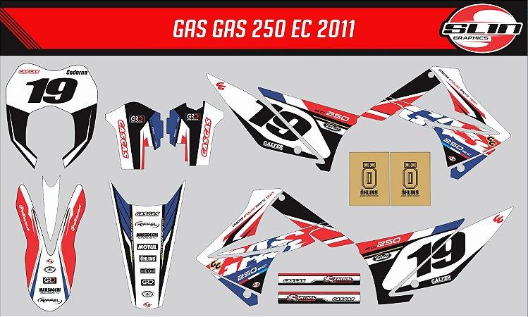 Adesivo Gas Gas 250ec 2011  - France Racing Edition