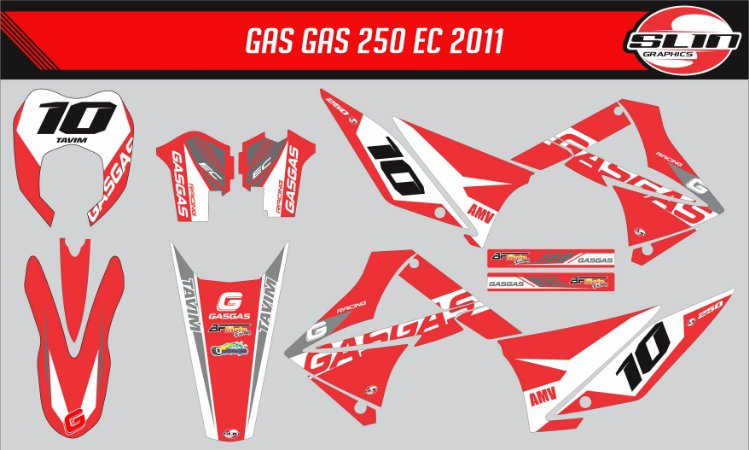 Adesivo Gas Gas 250ec 2011  - Flux Standard