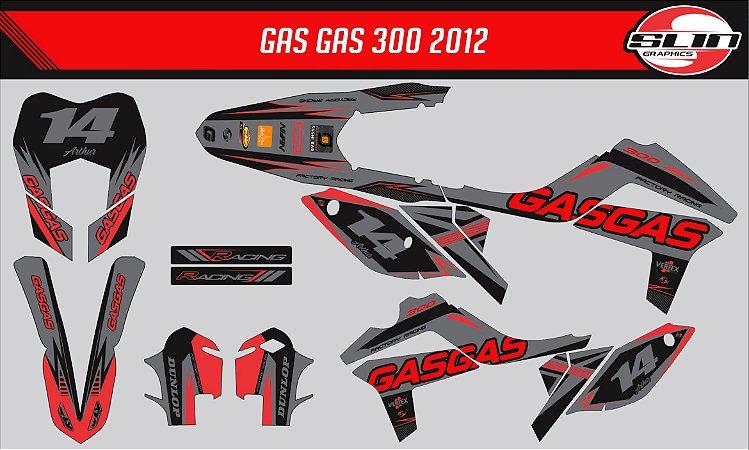 Adesivo Gas Gas 250ec 2011  - Black Flow Racing
