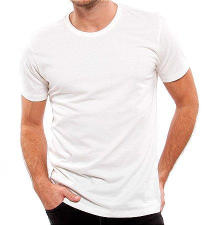 Camiseta 100% Algodão Penteado Branco