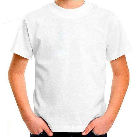 Camiseta Infantil 100% Algodão Penteado Branco