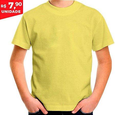 80c0d623b Camiseta Infantil 100% Algodão Penteado Amarelo Canário - Camiseta ...