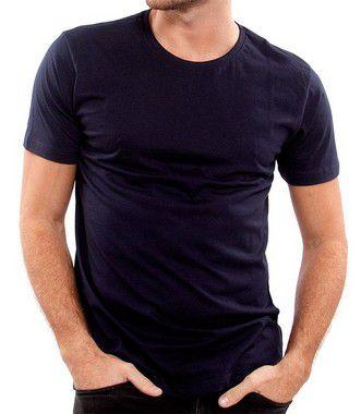 Camiseta 100% Algodão Penteado Azul Marinho