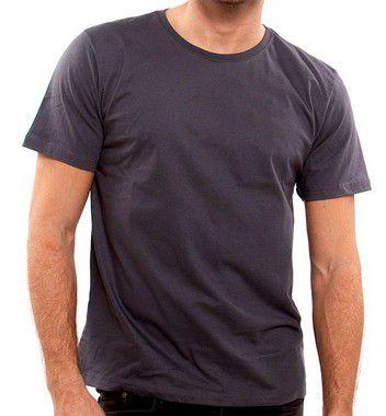 Camiseta 100% Algodão Penteado Cinza Extra