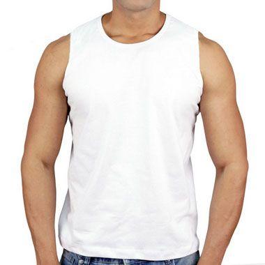 Regata 100% Algodão Penteado Branco
