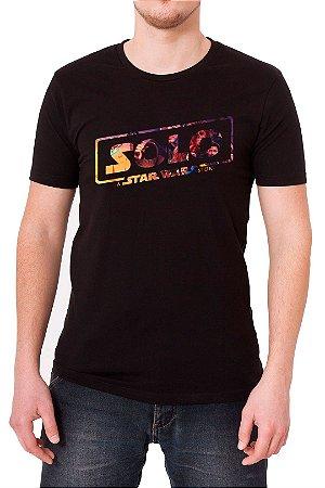 Camiseta Masculina Preta Solo