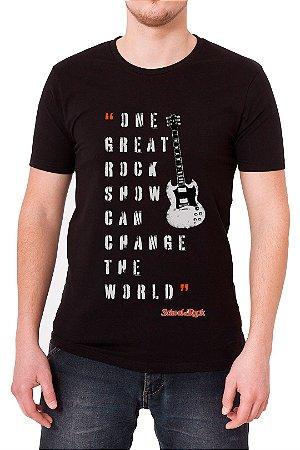 Camiseta Masculina Preta School Of Rock