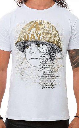 Camiseta Masculina Branca Boy U2
