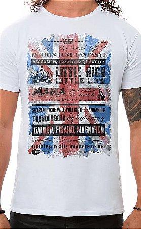 Camiseta Masculina Branca Bohemian Queen