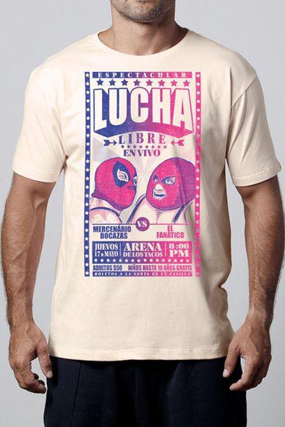 Camiseta Masculina Creme Lucha Libre Deadpool
