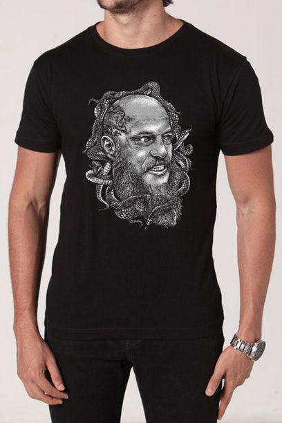 Camiseta Masculina Preta Ragnar
