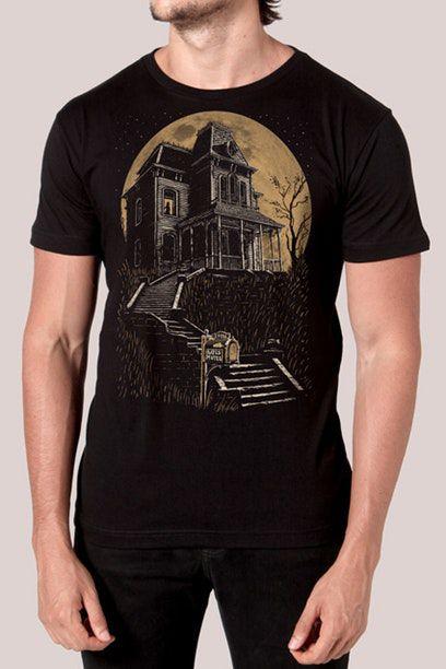 Camiseta Masculina Preta Bates Motel