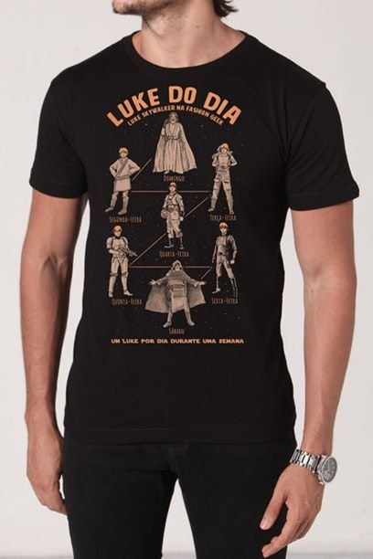 Camiseta Masculina Preta Luke do Dia