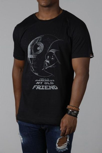 Camiseta Masculina Preta Star Wars Death Star
